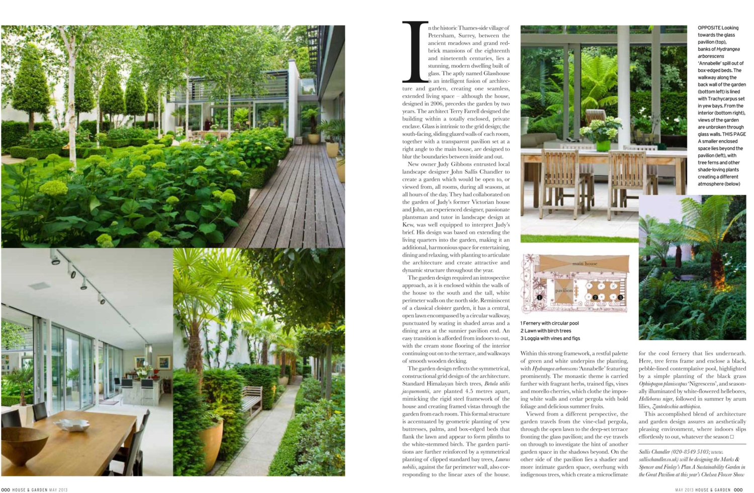 Sallis Chandler Landscape Designers and Gardeners featured in House and Garden Magazine